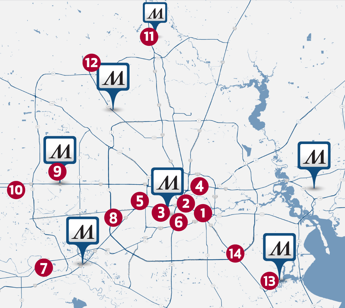 Map of Houston healthcare resources