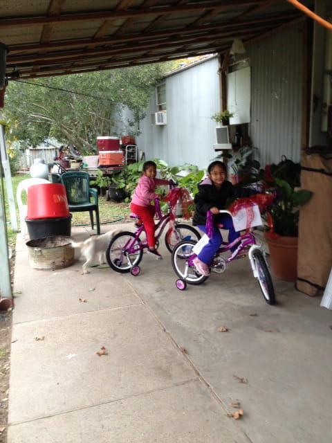 Adopt a family kids on bike Houston Methodist