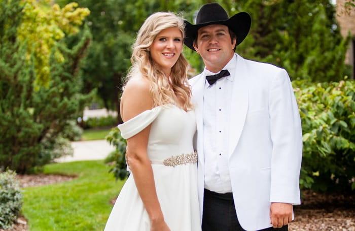 Blitz with her husband Austin
