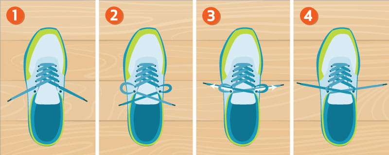 runner's knot: How to Lace Your Running Shoes To Prevent Foot Pain