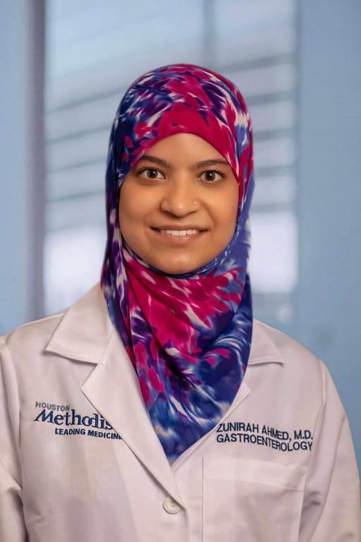 headshot of Zunirah Ahmed, MD