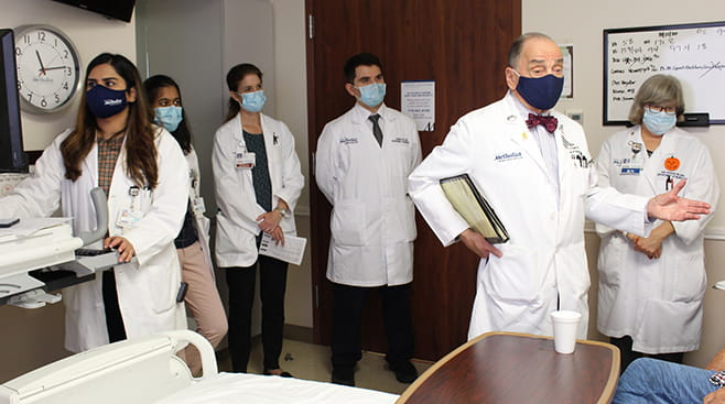 Dr Appel and residents