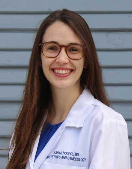 headshot of Sarah Hoopes, MD