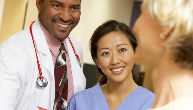 Physician and nurse at Houston Methodist San Jacinto hospital
