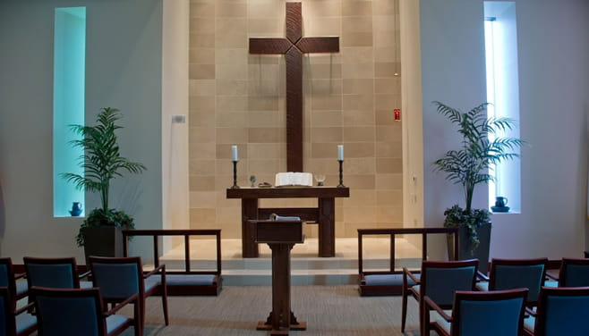 Houston Methodist Willowbrook hospital's chapel