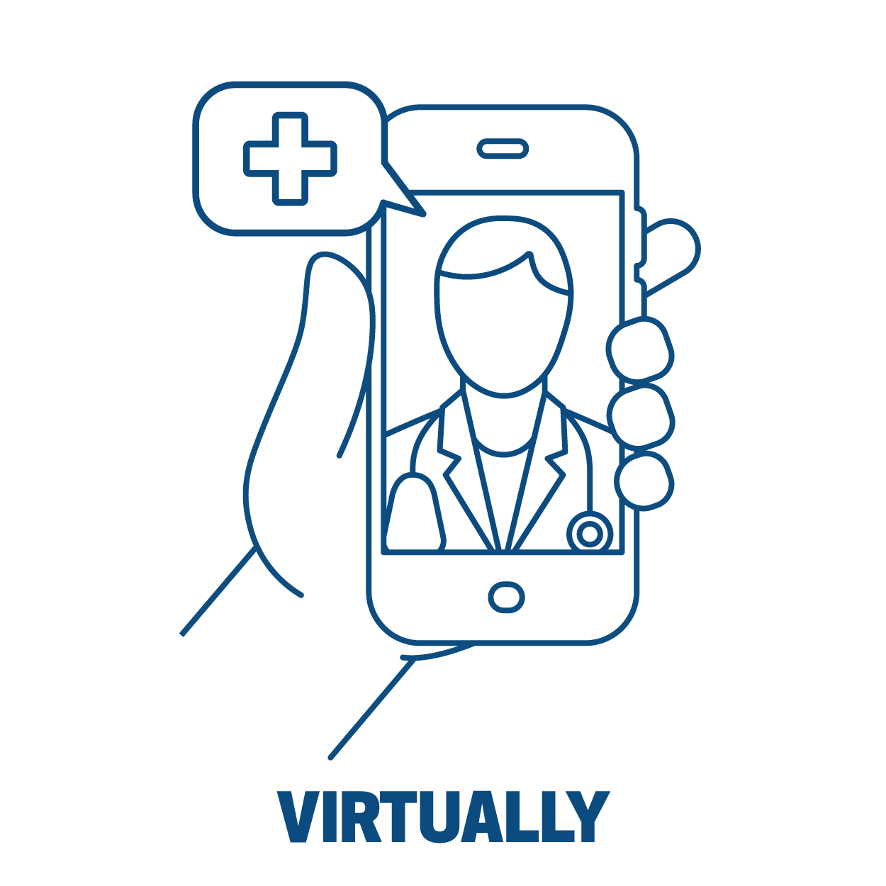 virtual visits icon