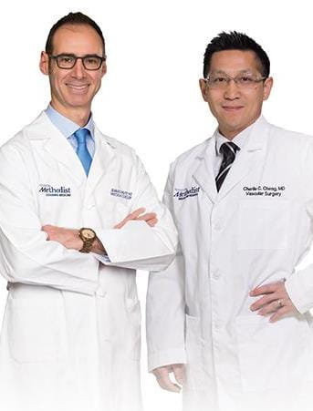 Dr. Jean Bismuth and Dr. Charlie Cheng