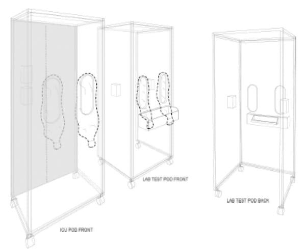 schematic 3d rendering of pod
