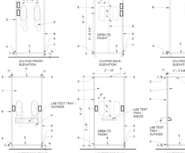 blueprints of icu pod