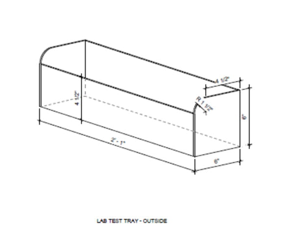 blueprint of tray of ICU pod