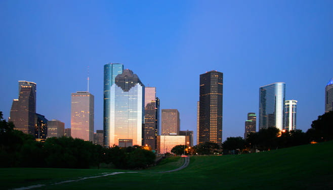 City of Houston at night