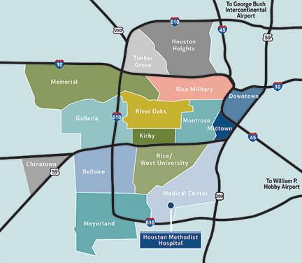 Houston Neighborhood Map