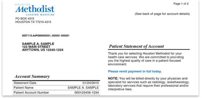 methodist hospital doctors note Online Bill Payment | Houston Methodist