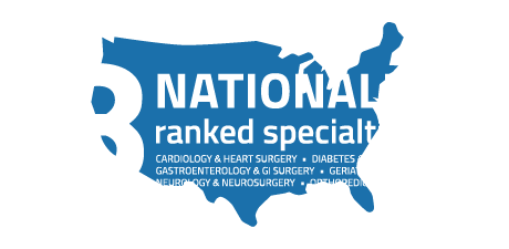 8 nationally ranked specialties