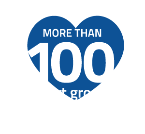 more than 100 support groups and patient programs