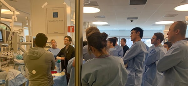 doctors watching a surgery