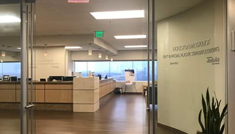 photo of otolaryngology reception desk