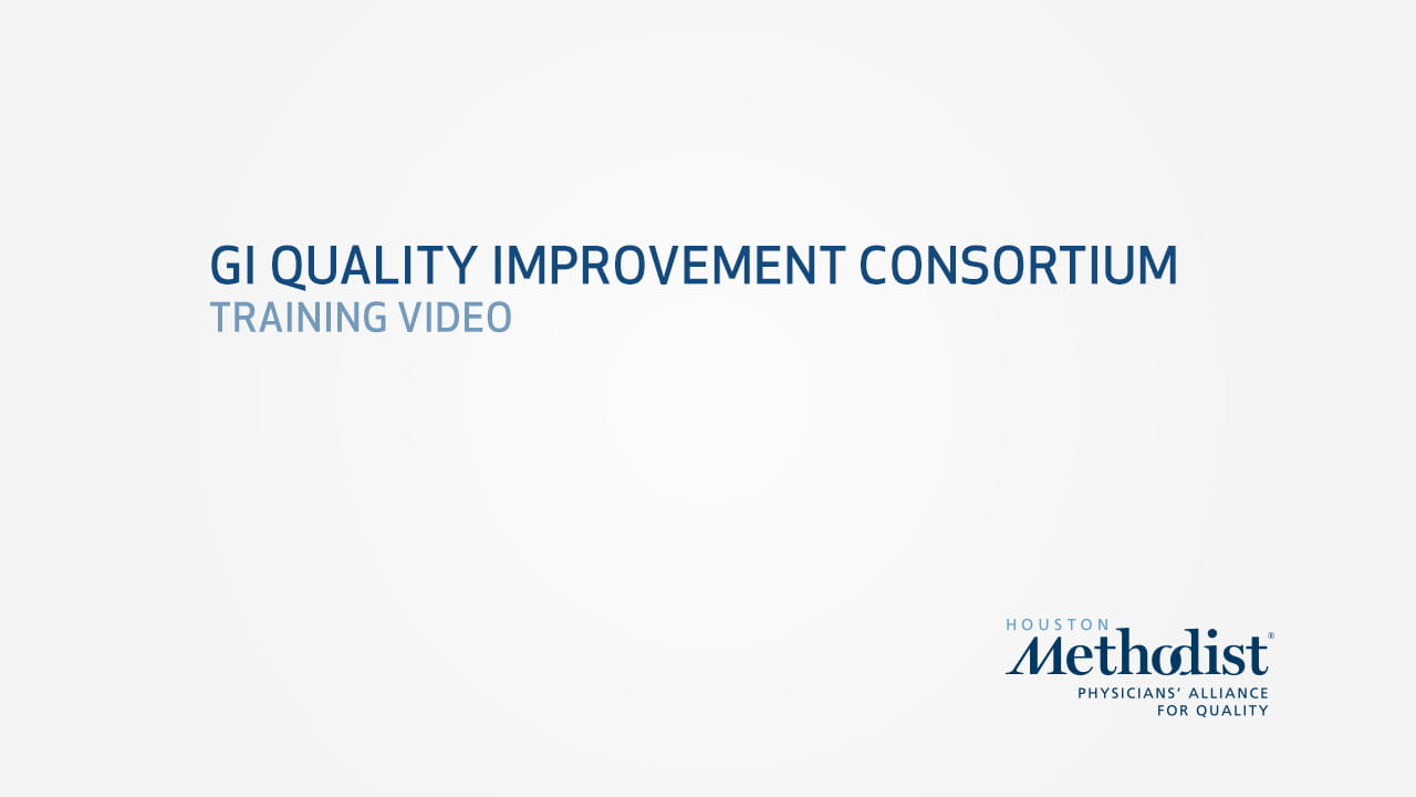 GI Quality Improvement Consortium Training Video