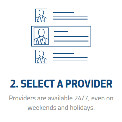 select a provider