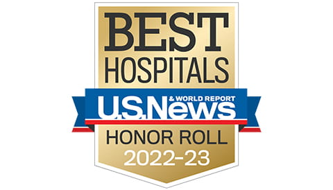 Ranked as Best Hospital Honor Role by U.S. News and World Reports