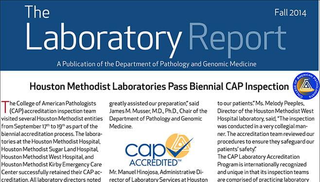 The Laboratory Report Fall 2014