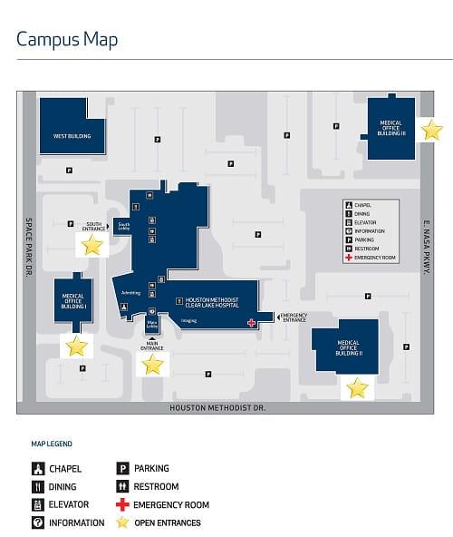HMCL Campus Map Open Entrances