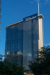 """The new Paula and Joseph C. """"Rusty"""" Walter III Tower located at 6551 Bertner Ave. in the Texas Medical Center."""